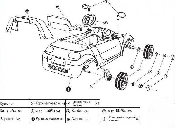 Детский электромобиль 28 Racer Smart (сборка) .