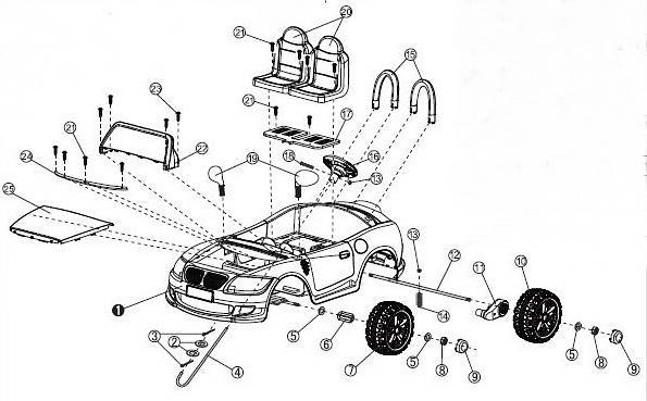 Детский электромобиль BMW Joy