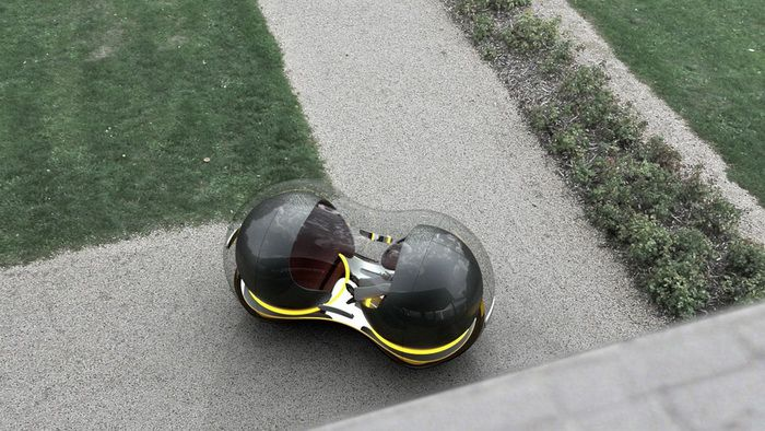 Китайская студентка разработала для Рено летающие машины-пузыри
